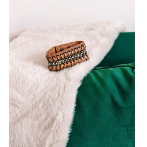 Braided & Chain Leather Bracelet URBAN OUTFITTERS